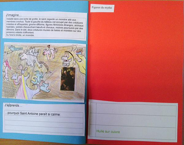 Image du carnet de l'élève