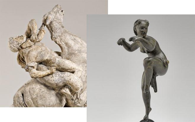 Détails de deux oeuvres de l'exposition