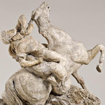 Cavalier grec attaqué par un serpent