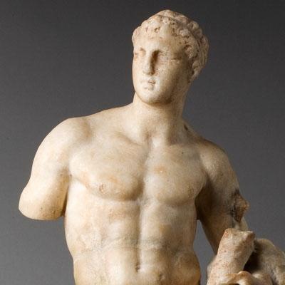 Statuette d'un roi en Héraclès