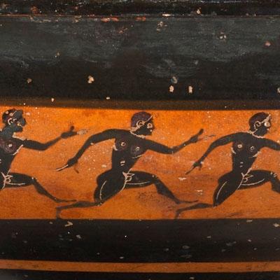 Coupe à figures noires : course à pied