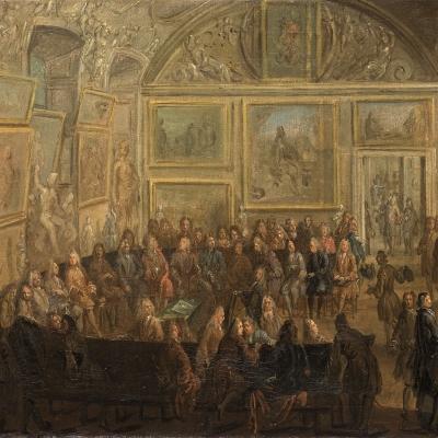 Une assemblée ordinaire de l'Académie royale de Peinture et de Sculpture