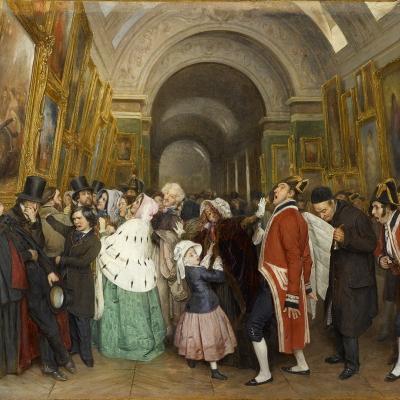 Quatre heures, au Salon, dit aussi Fermeture du Louvre