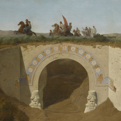 Le Pacha de Mossoul visitant les fouilles de Khorsabad