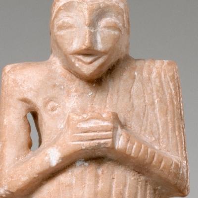 """Période dite de Suse IV A : Statuette d'orant appelé """"l'orant cubiste"""""""