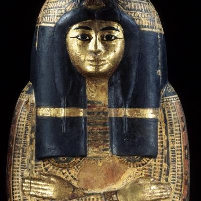 Cuve de cercueil en forme de momie
