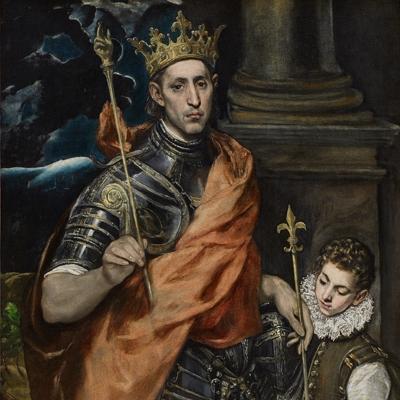Saint Louis roi de France, et un page