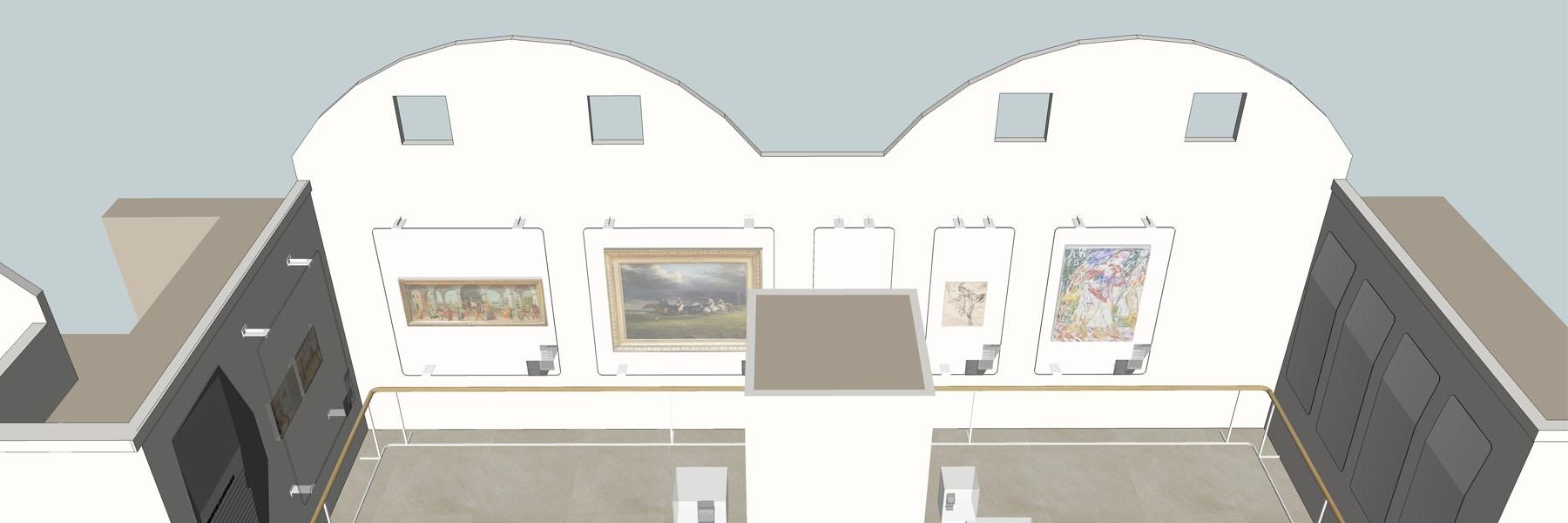 Image 3D tirée des plans de la scénographie