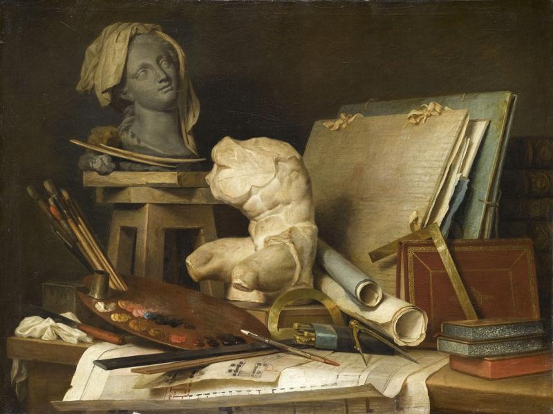 Les Attributs De La Peinture De La Sculpture Et De L Architecture Petite Galerie Musee Du Louvre