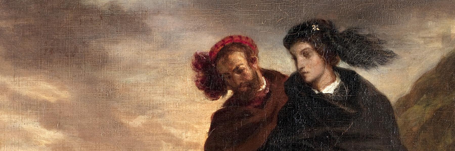 Hamlet et Horatio au cimetière d'Eugène Delacroix