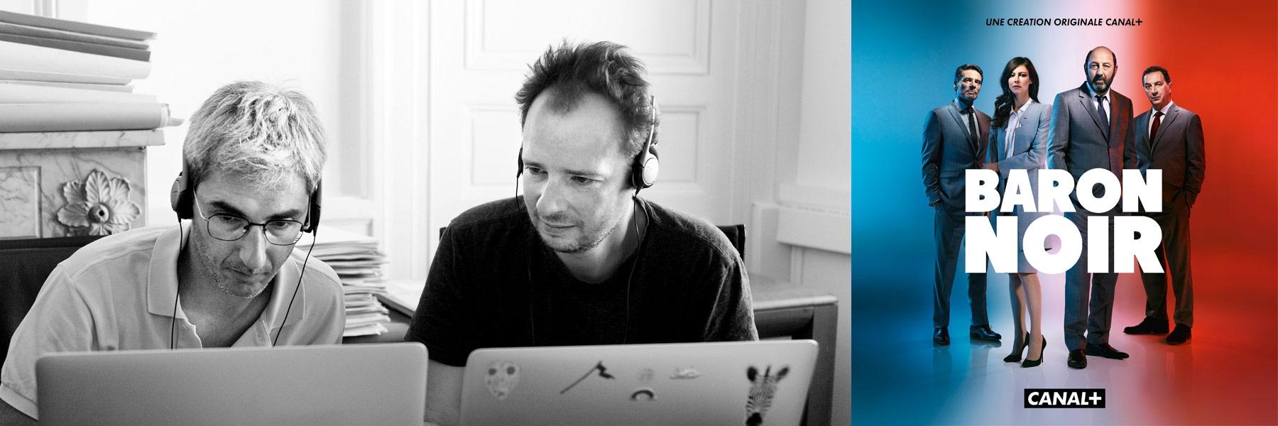 Les Scénaristes Eric Benzekri et Jean-Baptiste Delafon de la série Baron Noir
