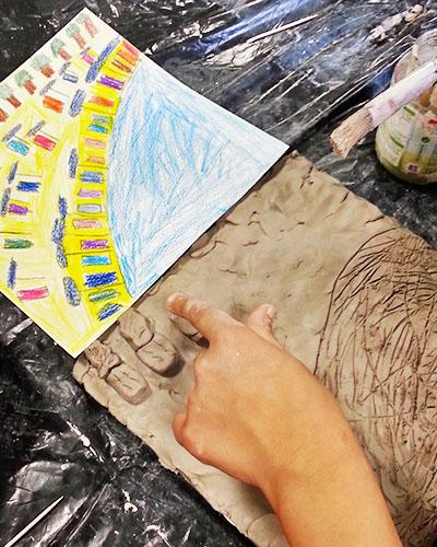 Photographie d'un travail d'élève